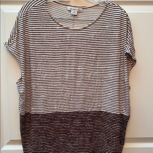 r sleeveless brown striped regular size top XL